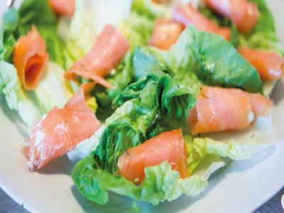 Salada de salmão surpresa