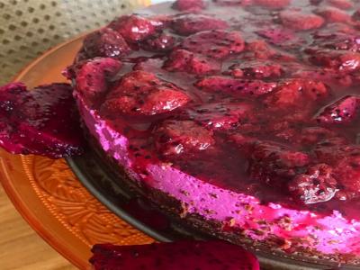 Torta mousse de pitaya